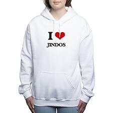 I love Jindos Women's Hooded Sweatshirt