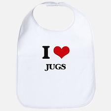 I love Jugs Bib