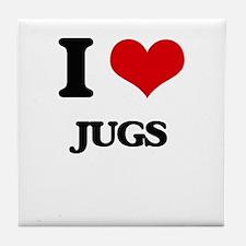I love Jugs Tile Coaster
