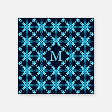 "Midnight Snow Square Sticker 3"" x 3"""
