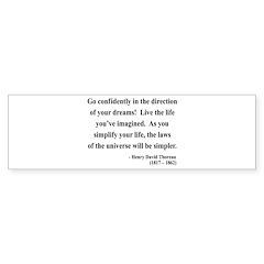 Henry David Thoreau 5 Bumper Bumper Sticker