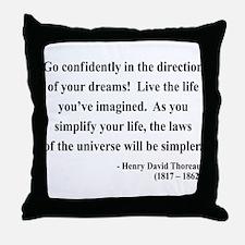 Henry David Thoreau 5 Throw Pillow