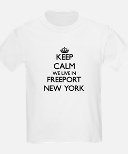 Keep calm we live in Freeport New York T-Shirt