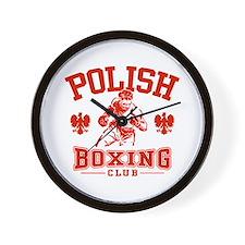 Polish Boxing Wall Clock