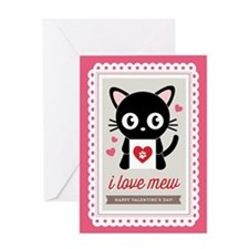 I Love Mew Valentine Greeting Cards
