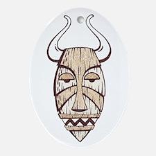 Bull Tiki Oval Ornament