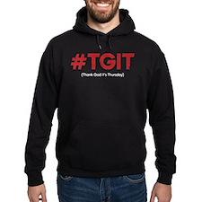 #TGIT Distressed Hoodie (dark)