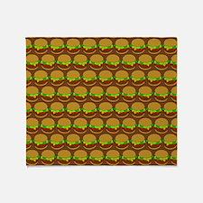 Fun Yummy Hamburger Pattern Throw Blanket
