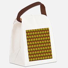 Fun Yummy Hamburger Pattern Canvas Lunch Bag
