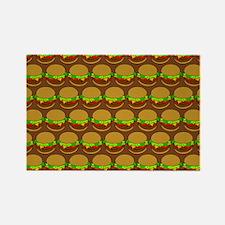 Fun Yummy Hamburger Pattern Rectangle Magnet