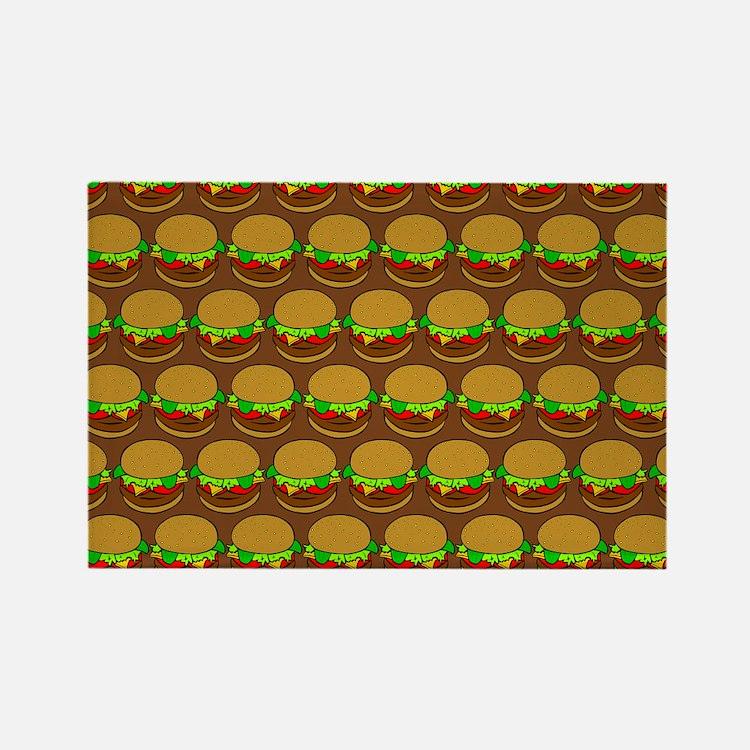 Fun Yummy Hamburger Pa Rectangle Magnet (100 pack)