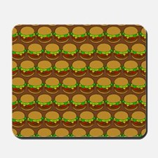 Fun Yummy Hamburger Pattern Mousepad