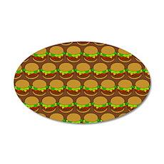 Fun Yummy Hamburger Pattern Wall Decal