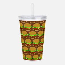 Fun Yummy Hamburger Pa Acrylic Double-wall Tumbler