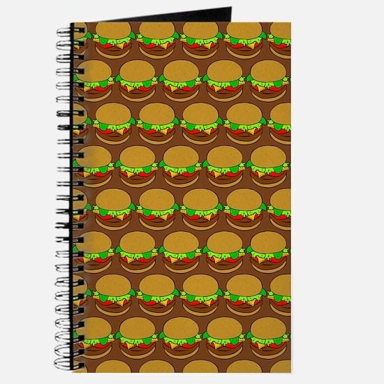 Fun Yummy Hamburger Pattern Journal