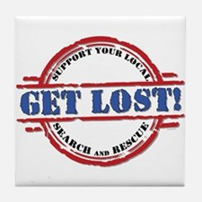 Get Lost (W).png Tile Coaster