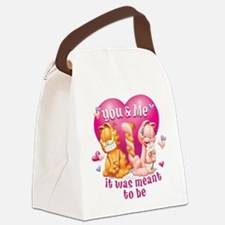 You and Me Canvas Lunch Bag