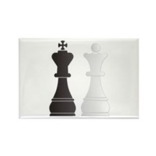 Black king white queen chess pieces Magnets