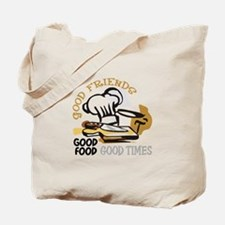 GOOD FRIENDS FOOD AND TIME Tote Bag