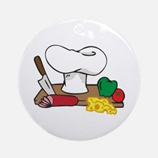 CHEFS TABLE Ornament (Round)