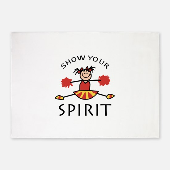 SHOW YOUR SPIRIT 5'x7'Area Rug