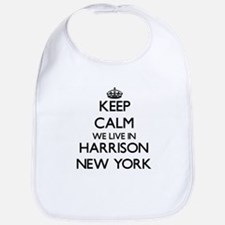 Keep calm we live in Harrison New York Bib
