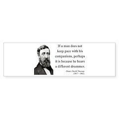 Henry David Thoreau 6 Bumper Sticker