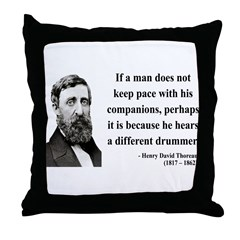 Henry David Thoreau 6 Throw Pillow