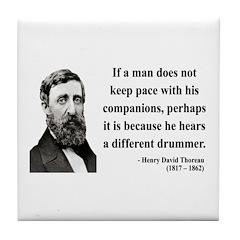 Henry David Thoreau 6 Tile Coaster