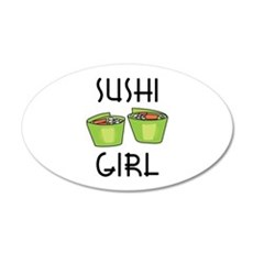 SUSHI GIRL Wall Decal