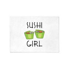 SUSHI GIRL 5'x7'Area Rug