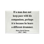 Henry David Thoreau 6 Rectangle Magnet (100 pack)