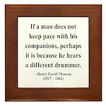 Henry David Thoreau 6 Framed Tile