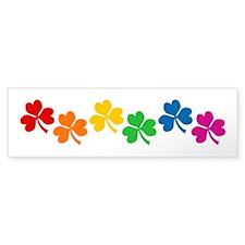 Rainbow Shamrocks Bumper Sticker