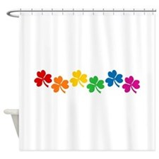Rainbow Shamrocks Shower Curtain