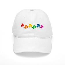 Rainbow Shamrocks Baseball Cap