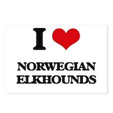 I love Norwegian Elkhound Postcards (Package of 8)