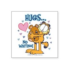 Hugs...No Waiting! Square Sticker 3