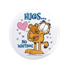 "Hugs...No Waiting! 3.5"" Button (100 pack)"