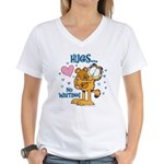 Hugs...No Waiting! Women's V-Neck T-Shirt