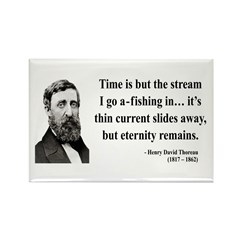 Henry David Thoreau 7 Rectangle Magnet (10 pack)