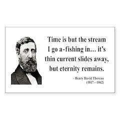 Henry David Thoreau 7 Rectangle Decal
