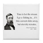 Henry David Thoreau 7 Tile Coaster