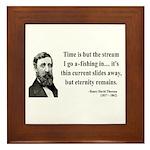 Henry David Thoreau 7 Framed Tile