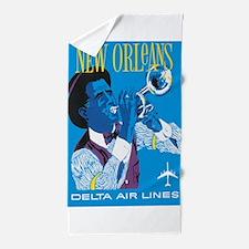 Vintage New Orleans Jazz Beach Towel