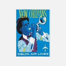 Vintage New Orleans Jazz 5'x7'area Rug