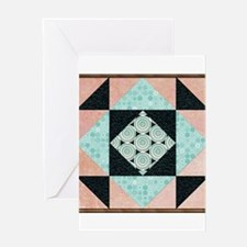 Basic Hourglass Patch in Turquoise Greeting Cards