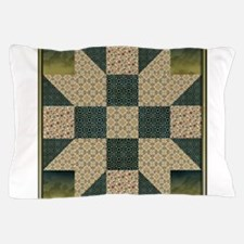 Patch Star Gold and Green copy.png Pillow Case