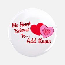 """My Heart Belongs To 3.5"""" Button"""