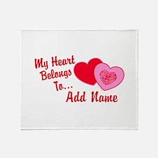 My Heart Belongs To Throw Blanket